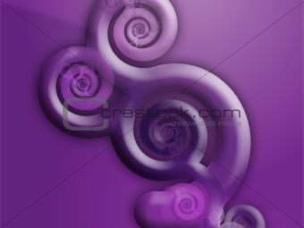 Abstract swirly floral grunge illustration