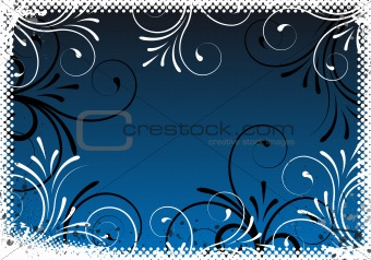 abstract floral background frame