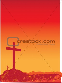 grunge crosses orange