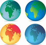 coloured globes