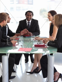 Business Leader Conducting a meeting