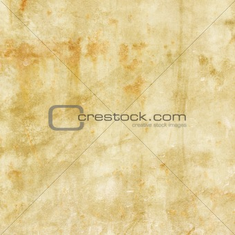 Old grunge distressed paper background with rust spots