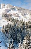 winter ski ropeway