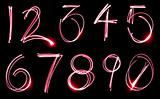 Neon Number Set