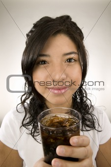 Girl with soda