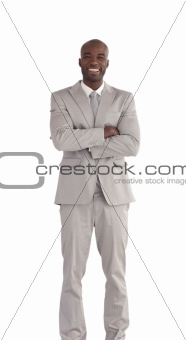 African America Business man Isolated