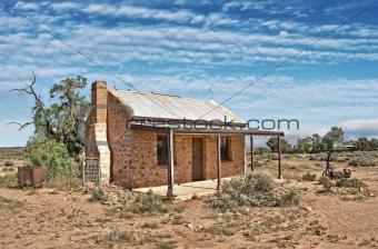 old building in desert