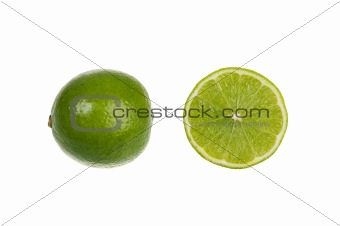 Green lime isolated over white