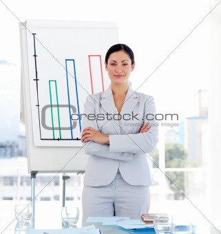 Positive Businesswoman at a presentation