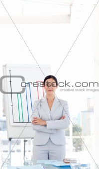Serious Female sales manager