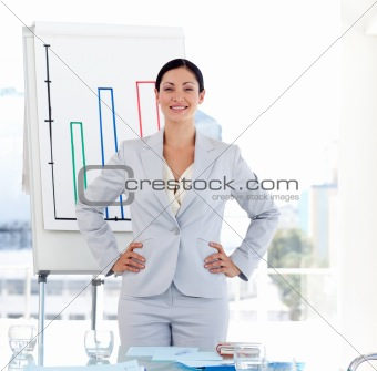 Positive Businesswoman at a presentation