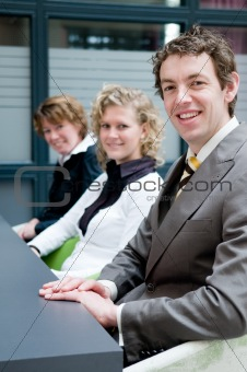 Business people in an office