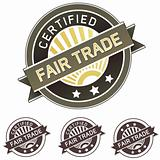 Certified fair trade package or menu label