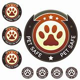 Pet safe and no animal testing product labels