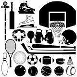 Sports equipment - vector