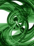 Flowing green burst