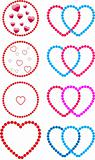 Hearts made of dots