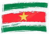 Grunge Suriname flag
