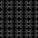 Ornate black and white seamless wallpaper pattern