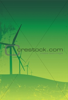 green grunge turbines