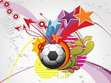 funky background with football