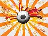 artistic grunge background with soccer
