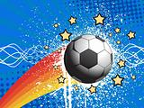white grunge soccer with texture background
