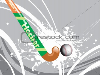 grey background with grungy stick, ball