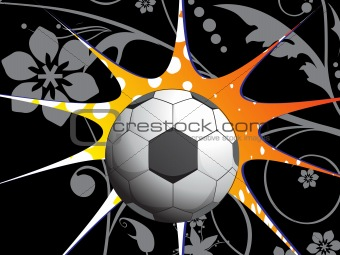 abstract floral background with soccer