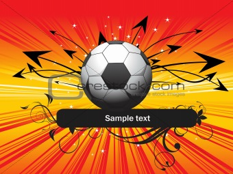 abstract football background, vector illustration
