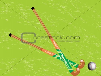 green background with hockey ball