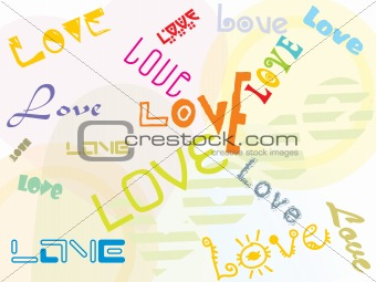 artistic and creative love background