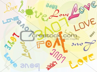 abstract love vector illustration