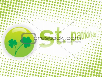 artistic pattern shamrock background 17 march