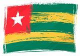 Grunge Togo flag