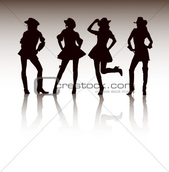Attractive Cowgirls