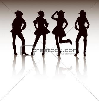 Attractive Cowgirls