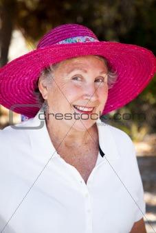 Senior Lady in Sun Hat