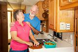 Seniors RV - Romance in Kitchen