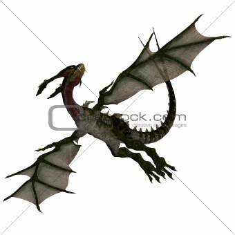 Mythical Fantasy Dragon with Forktail