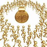Crowd Going For The Gold Medal