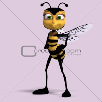 Cute Cartoon Honey Bee