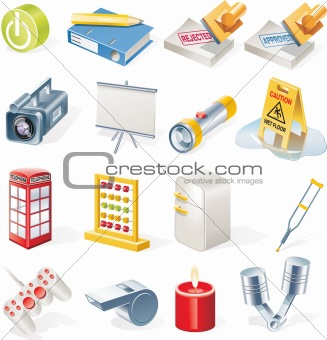 Vector objects icons set. Part 14