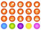 Party and Celebration icons sun series