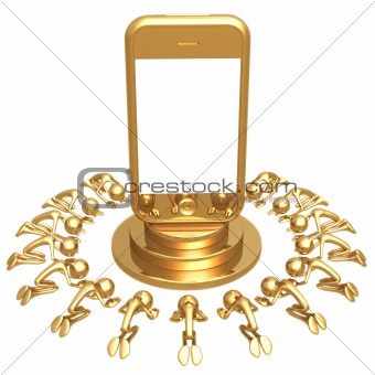 Touch Screen Cell Phone Worship