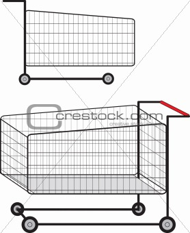 cart for supermarket
