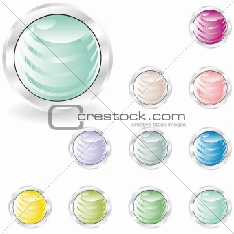 web buttons in pastel tint
