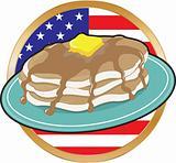 Pancake American Flag