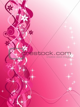 Abstract floral background, wave pattern