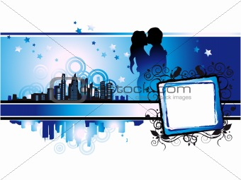 Cityscape, urban frame, couple kissed, valentine